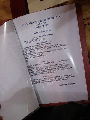 school auction items potato cannon instruction manual