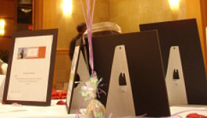 silent auction displays HCH closeup