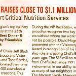 2015 Chefs Best F&F newsletter gala results