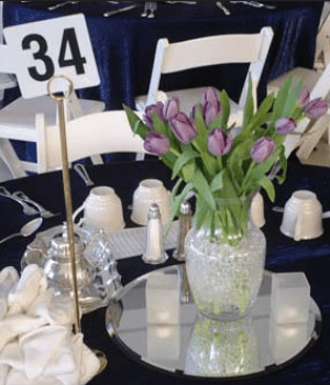 school auction centerpiece ideas flowers
