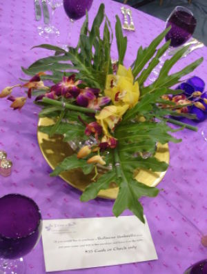 school auction centerpiece ideas low flowers
