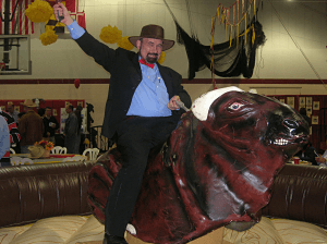 school auction themes western bull rider