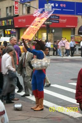 Benefit auction marketing idea - NY Superman vendor
