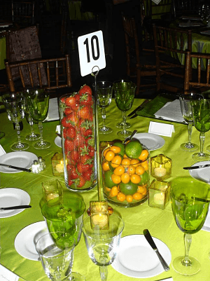 fundraising auction ideas fruit centerpiece