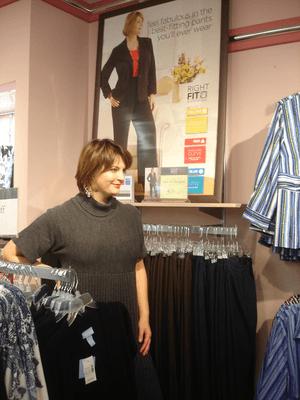 plus-size model Sherry Truhlar - store poster