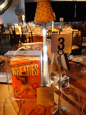 school auction centerpieces Night at Museum