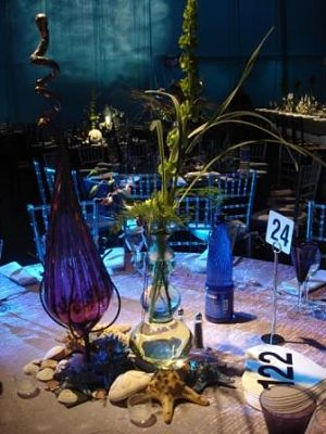 auction themes underwater centerpiece