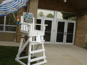 school auction themes - lifeguard chair