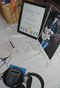 silent auction donations - dance band with CD