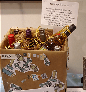 silent auction tips - display wine