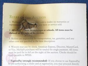 charity auction program burned