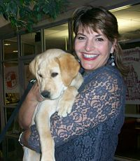 benefit auction puppy with benefit auctioneer virginia Sherry Truhlar
