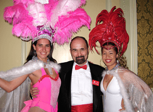 Jerome - Benefit auction team member with women