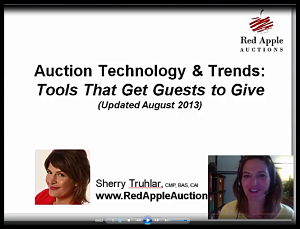 Benefit auction technology and trends webinar screenshot