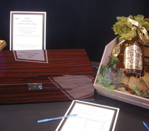 nonprofit silent auction item cigar humidor