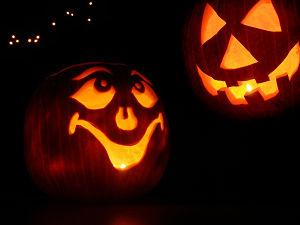 Halloween pumpkin jack-o-lanterns