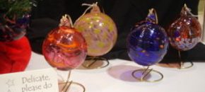 auction class projects tree ornaments