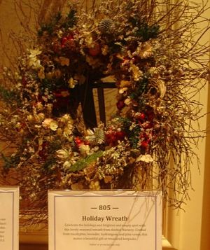 wreath home decor silent auction display