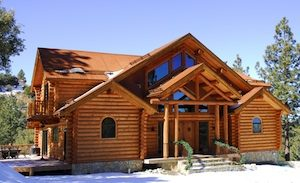 new log home in mountain resort town