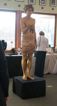 Greek god statue