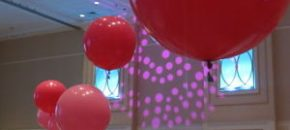 Oversized balloons at benefit auction