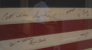 Here's a close-up of the signatures.