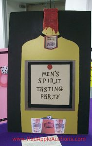 Auction sign up parties Mens Spirit tasting