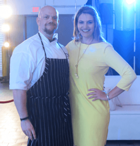 Chef James Barrett and Maryland Benefit Auctioneer Sherry Truhlar
