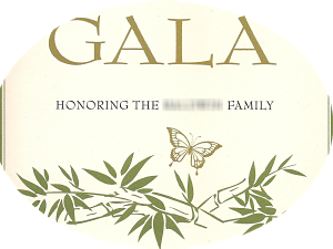 benefit auction Gala honoree of a family