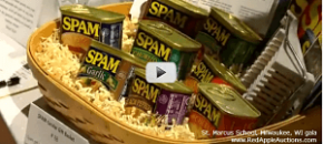 silent auction package of SPAM