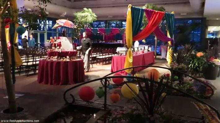 Mumbai Auction Theme at local botanical garden atrium