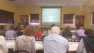 Peter Liem instructs champagne class in Washington, D.C.