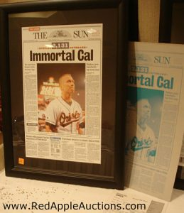 Baltimore Sun Printers Plate Cal Ripkin