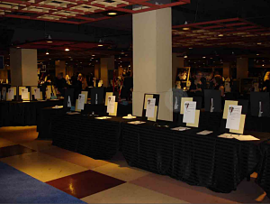 silent auction displays Inova
