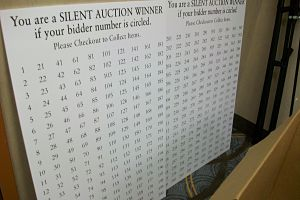 silent auction checkout process bidboard foamcore