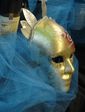 fundraising auction theme - Venetian mask