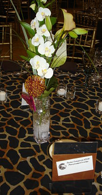 school auction centerpiece African