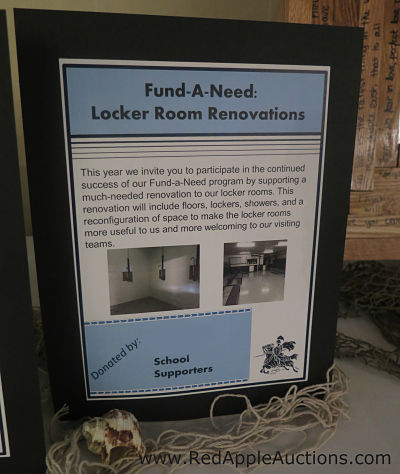 Fund a Need special appeal for lockers display