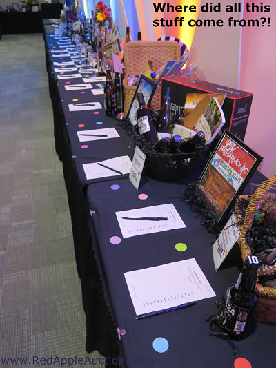 Where to get charity auction items