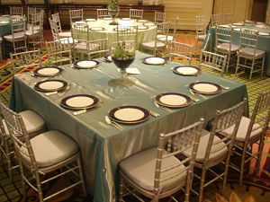 benefit auction ideas square table