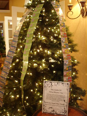 benefit auction revenues - Holiday tree with lottery tickets