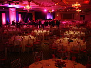 benefit auction themes - Honeysuckle gala auction ballroom