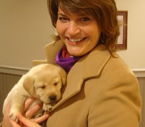 benefit auction puppy with benefit auctioneer Maryland Sherry Truhlar