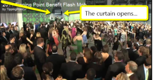 flash mob at auction gala