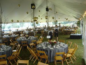 charity auction venues tents