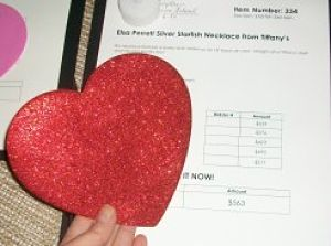 silent auction tips for Valentine's Day