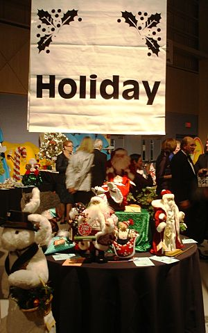 holiday silent auction signage