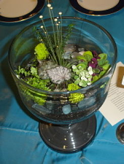 benefit auction centerpieces - emerald