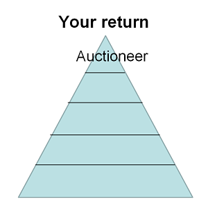 Triangle chart showing auctioneer