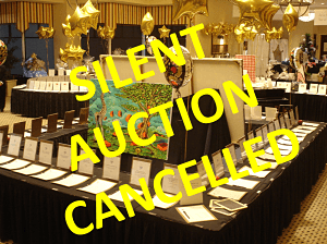 Silent auction cancelled photo